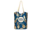 【Whole Foods Market/ホールフーズマーケット】ハワイ限定☆ロープエコバッグ:ネイビー×ゴールドパイナップル